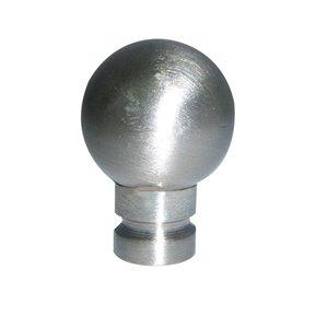 Portfolio 1.81-in L x 1.38-in Dia Brushed Nickel Casual Steel Lamp Finial