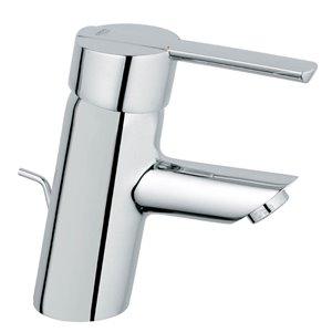 GROHE Feel Starlight Chrome 1-Handle Single Hole Bathroom Sink Faucet with Drain