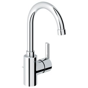 GROHE Feel Starlight Chrome 1-Handle Single Hole Bathroom Sink Faucet with Drain