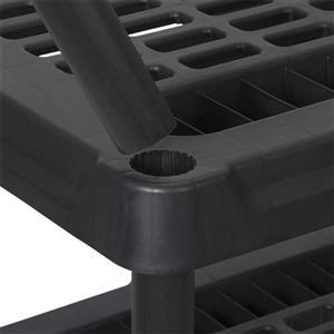 Blue Hawk 6-ft H x 3-ft W x 1-ft 6-in D 5-Tier Plastic Freestanding Shelving Unit