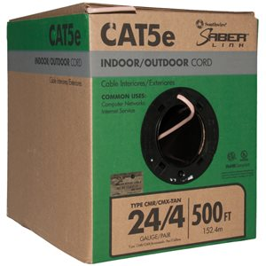 Southwire 500-ft 24/4 CAT 5E Indoor/Outdoor Beige Data Cable