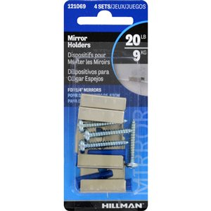Hillman 4-Count Wide Channel Mirror Clips