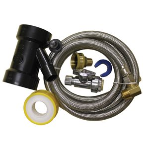 60-in L. Dishwasher Installation/ Hook-Up Kit for Pipe - For Copper, CPVC and PEX