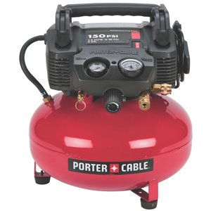 PORTER-CABLE 6-Gallon Single Stage Electric Pancake Air Compressor