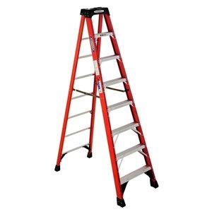 Werner 8-ft Type 1A - 300 lbs. Capacity Fiberglass Step Ladder