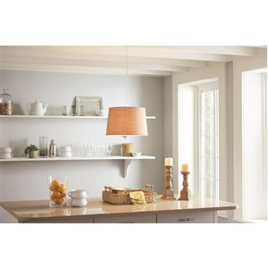 allen + roth White Metal Swag Light Kit with Cord