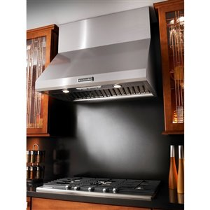 KitchenAid 36-in Wall-Mounted Range Hood (Stainless Steel)