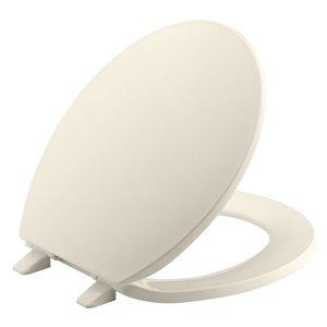 KOHLER Brevia Q2 White Plastic Round  Fits round front, 1- and 2-piece toilets Round Toilet Seat