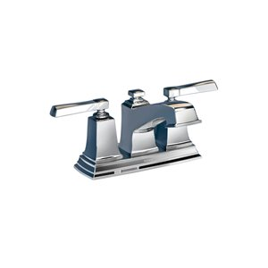 Moen Boardwalk Chrome 2-Handle 4-in Centerset WaterSense Bathroom Sink Faucet with Drain