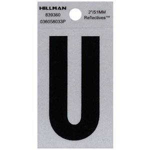 Hillman 2-in Reflective Black House Letter