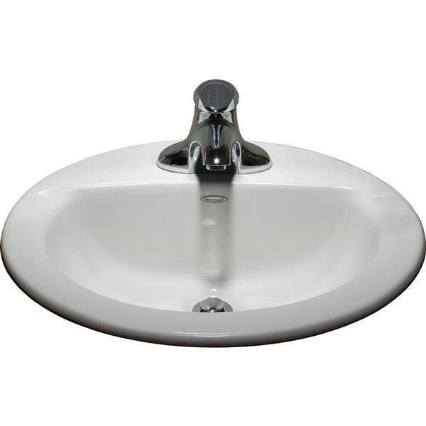 American Standard Topmount Oval Bathroom Sink Lowe S Canada