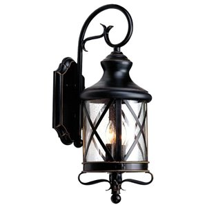 allen + roth 29.25-in Bronze Outdoor Wall Mounted Light