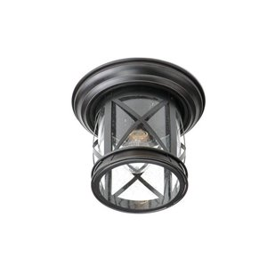 allen + roth Oil-Rubbed Bronze Outdoor Flush Mount Light