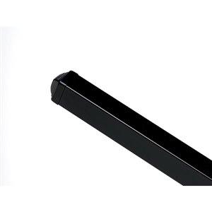 Master Halco Montage 81-in Black Galvanized Steel Pyramid-Cap Fence Post