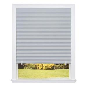 48-in W x 72-in L Gray Room Darkening Cordless Paper Pleated Shade