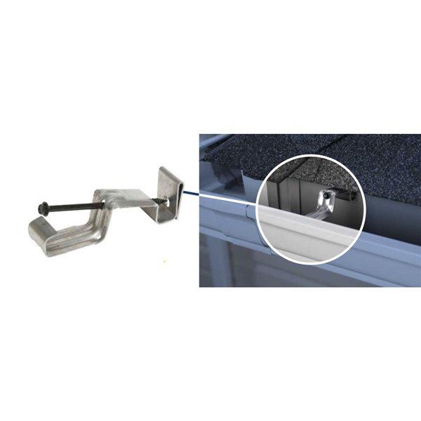 5 1 4 In Aluminum Hidden Gutter Hanger With Screw Lowe S Canada