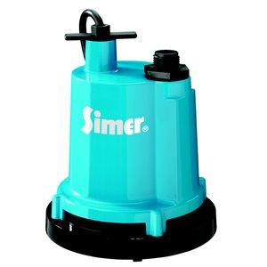 Simer 1/4 HP Cast Aluminum Submersible Utility Pump