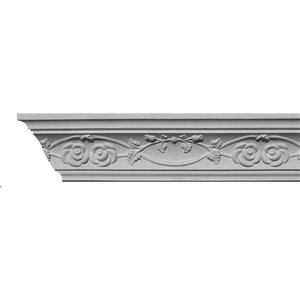 2-3/4 x 3-7/8 x 8-ft Rose Polyurethane Crown Moulding