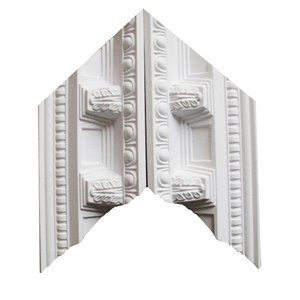EverTrue 3.25-in x 1.03-in Polyurethane Inside Corner Crown Moulding Block