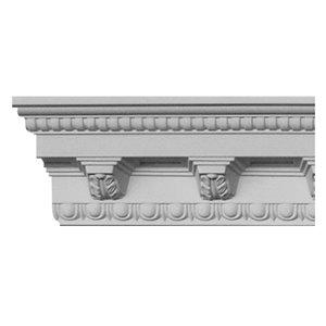 3-15/16 x 5-5/16 x 8-ft Dentil Polyurethane Crown Moulding