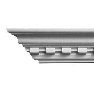 2-3/4 x 3-3/4 x 8-ft Dentil Polyurethane Crown Moulding