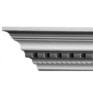 2-5/8 x 4-1/8 x 8-ft Dentil Rope Polyurethane Crown Moulding