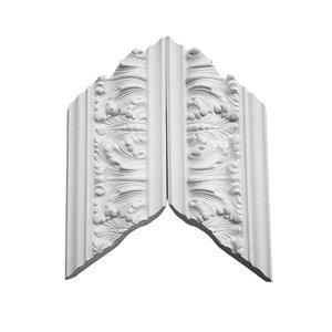 EverTrue 3.25-in x 1.03-in Polyurethane Inside Corner Crown Moulding Block