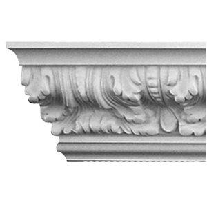 3-1/8 x 4-7/8 x 12-ft Grecian Polyurethane Crown Moulding