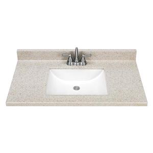 Estate By Rsi 37 In Square Bowl Dune Cultured Marble Vanity Top Lowe S Canada
