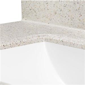 ESTATE by RSI 37-in Square Bowl Dune Cultured Marble Vanity Top