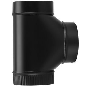 IMPERIAL 6-in x 12-in Black Matte Stove Pipe Fittings