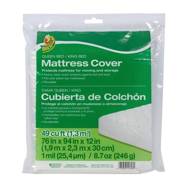 Duck Plastic Queen King Mattress Cover, Plastic Mattress Storage Covers