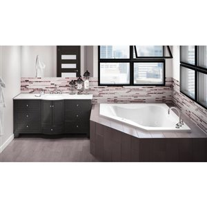 Jacuzzi 60-in x 60-in Primo 2-Person White Acrylic Corner Whirlpool Tub