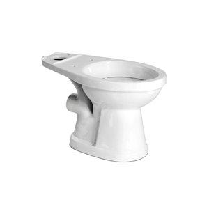 SANIFLO Saniflush Chair Height White 12-In Rough-In Pressure Assist Round Toilet Bowl