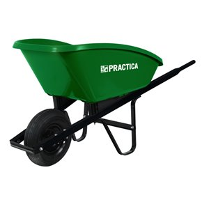 True Temper Practica 190-lb Capacity Poly Wheelbarrow