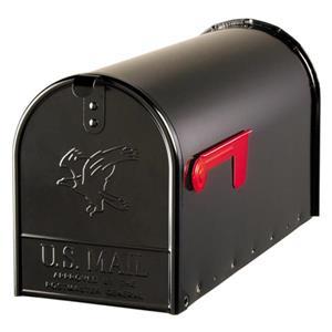 Black Metal Mailbox