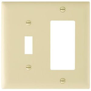 Legrand Trademaster 2-Gang Toggle/Decorator Combination Wall Plate (Ivory)
