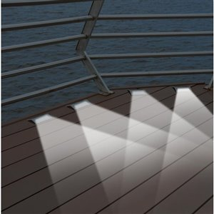 Sunforce Metallic Solar-Powered LED Deck Lights (2-Pack)