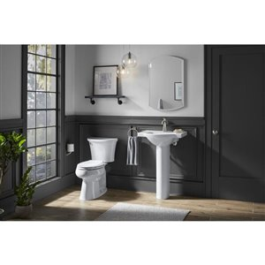 KOHLER Cavata White 2-Piece Dual-Flush Elongated Comfort Height Toilet (1.6 GPF)