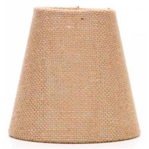 allen + roth 5-in x 5.25-in Burlap Fabric Chandelier Lamp Shade