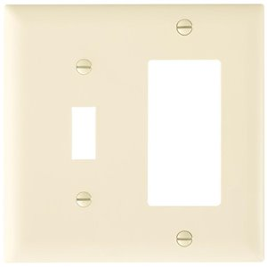Legrand Trademaster 2-Gang Toggle/Decorator Combination Wall Plate (Light Almond)