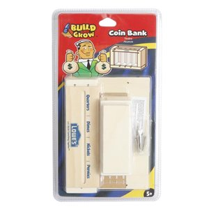 Build and Grow Kid's Beginner Build and Grow Kid's Coin Bank Project Kit