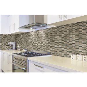 Faber 12-in x 12-in Sterling Stone Mini Planks Mosaic Wall Subway Tile