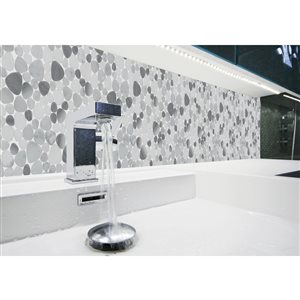 Faber 13-in x 13-in Moonbeam Pebbles Blends Mosaic Wall Tile