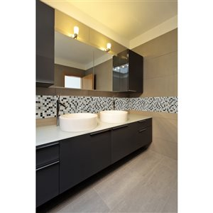 Faber 12-in x 12-in Sterling Blends Mosaic Wall Tile