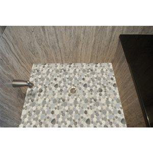 Faber 13-in x 13-in Sand Dune Pebbles Blends Mosaic Wall Tile