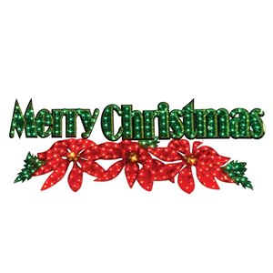 72-in Incandescent 'Merry Christmas' Outdoor Sign