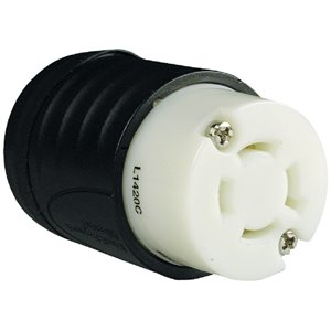 Legrand 20-Amp 250-Volt Black 3-Wire Grounding Connector