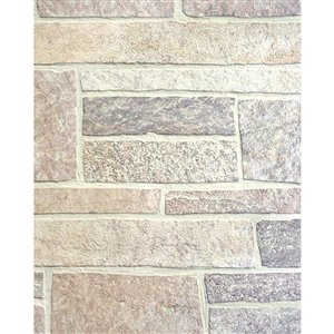 47.75-in x 7.98-ft Embossed Canyon Stone Hardboard Wall Panel