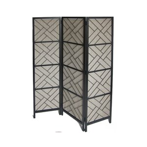 allen + roth 72-in x 59-in Black Outdoor Privacy Screen